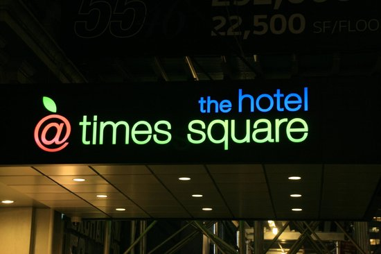 The Hotel at Times Square: Front canopy of Hotel