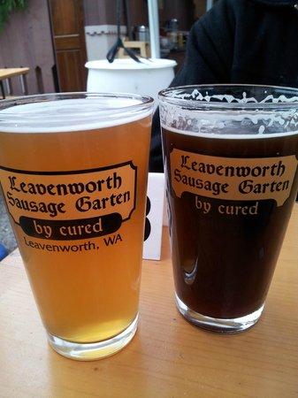 Leavenworth Sausage Garten: Some of the German Beer offerings