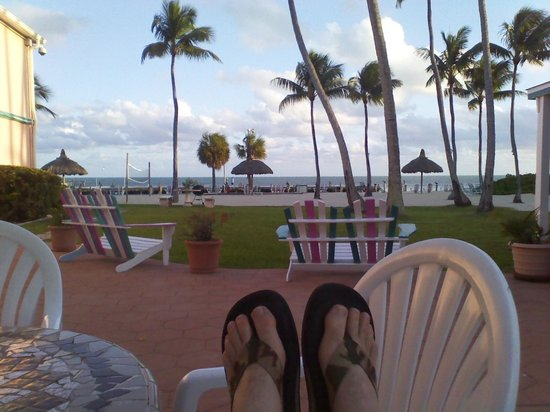 Breezy Palms Resort: old fashioned adirondack chairs