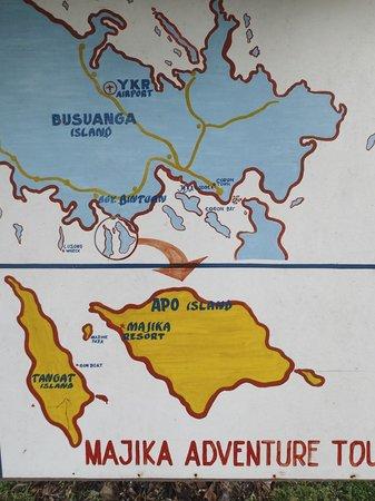Majika's Island Resort: Map 