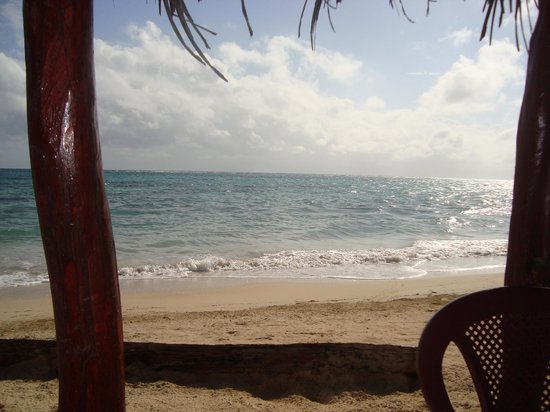 Little Corn Beach and Bungalow: View from Breakfast Table