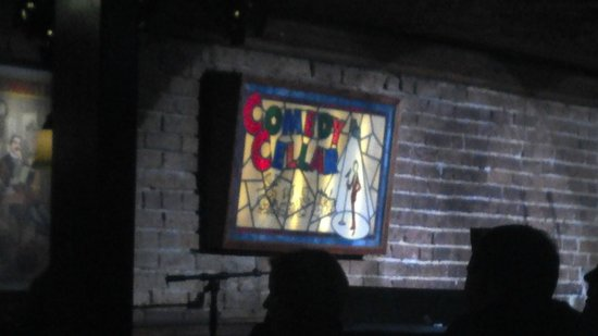 Comedy Cellar : A view of the stage from our corner booth