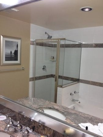 Vancouver Marriott Pinnacle Downtown Hotel: large, clean bathroom with separate tub and shower