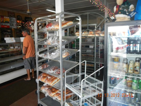 T Komoda Store & Bakery Incorporated: day old items shelf