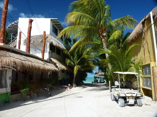 Beachfront Hotel La Palapa : Approach to the hotel