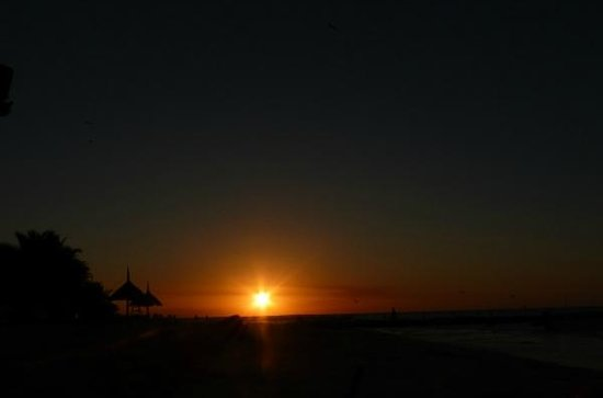 Beachfront Hotel La Palapa : Perfect Sunsets every Night