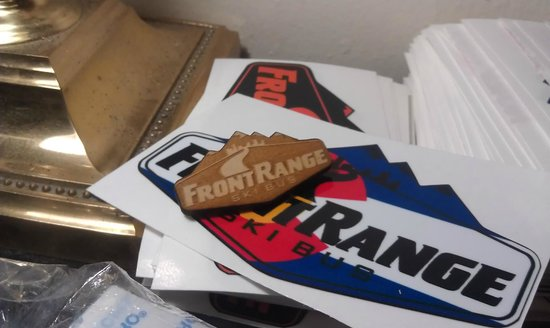 Front Range Ski Bus stickers