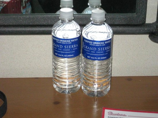Grand Sierra Resort and Casino: Waters In Room (part of resort fee)