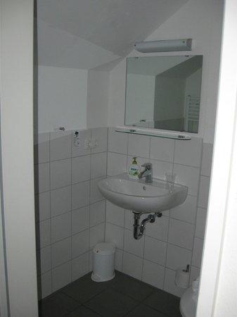 hotelo Heidelberg: Lavabo habitacion individual