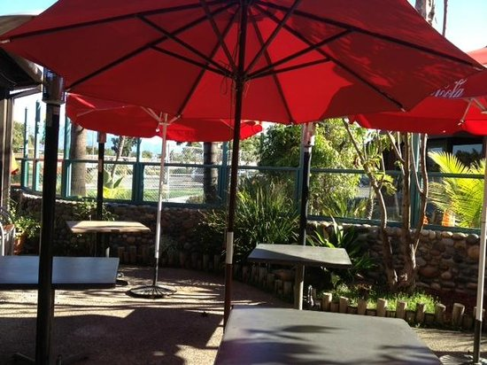 Woody's Diner: The patio area