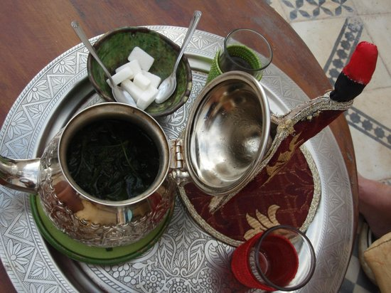 Riad Vert Marrakech: fresh mint tea
