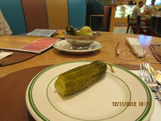 Murray's Deli: Giant pickles