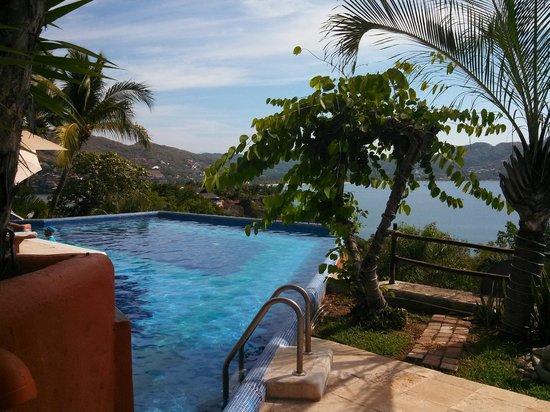 WorldMark Zihuatanejo: View from pool toward Zihua