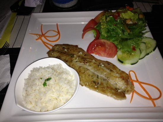 Restaurante Mira Miro: Corvina al ajillo