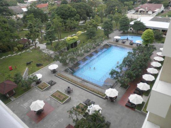 Royal Ambarrukmo Yogyakarta: Pool view from the room