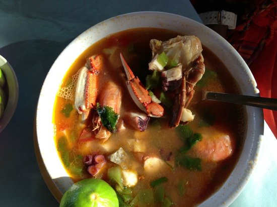 Welk Resorts Sirena Del Mar: Fish Soup at Las Tres Islas