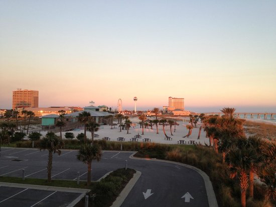 Pensacola Beach: View from the Margaritaville Beach Hotel at sunset.