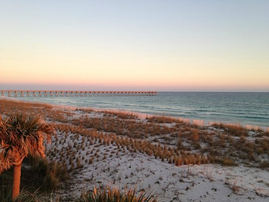 Pensacola Beach : View of the beach at sunset.