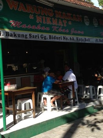 Warung Nikmat: the favourite warung stall everytime we'r in kuta.