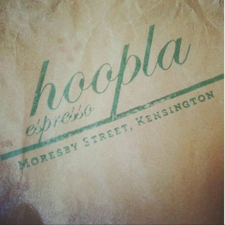 Hoopla Espresso:                   rustic packaging for the goodies inside