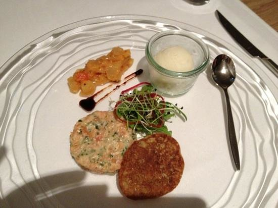 Restaurant Essort : tartare de saumon