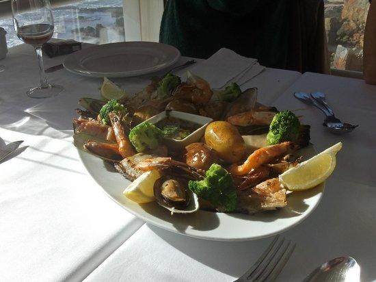 Peixe Na Linha: A dish of fish and seafood