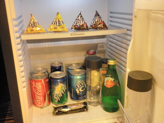 Hotel ICON: Well stocked complimentary mini bar
