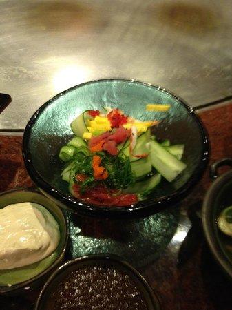 The delicious cucumber salad