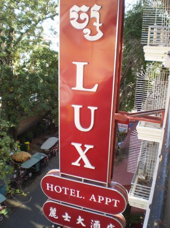 Lux Riverside Hotel & Apartments: The hotel sign