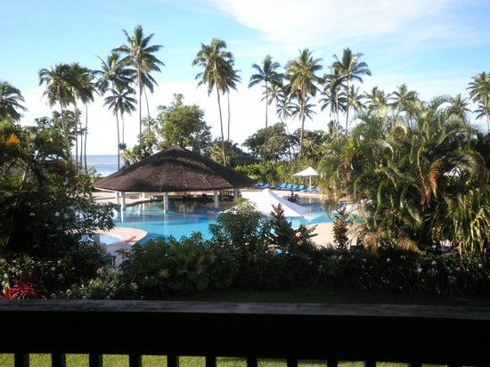 Naviti Resort: View from our room of the Pool area