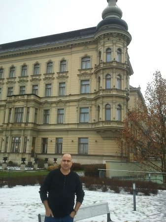 Le Palais Art Hotel Prague : The back of the hotel