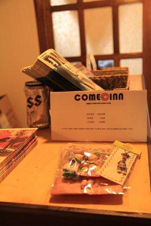 Come Inn Guesthouse: Come Inn card
