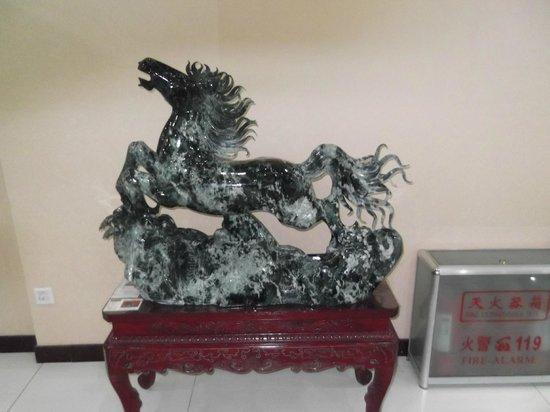 Run-ze Jade Garden: A jade horse