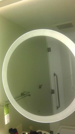 SpringHill Suites Tampa North/I-75 Tampa Palms : Oval sink in bathroom with shower