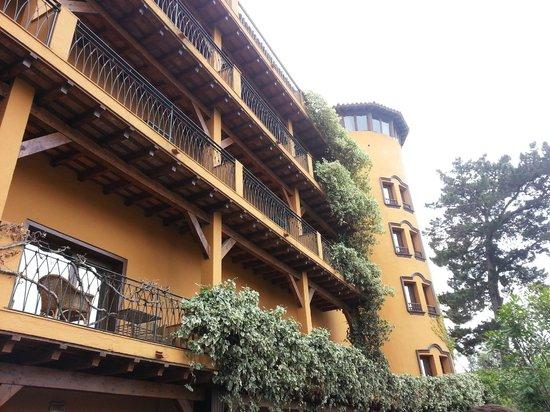 Rigat Park & Spa Hotel: El hotel por detrás