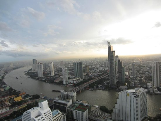 lebua at State Tower: 54th Fl. - City and Chaor Phraya River during the day