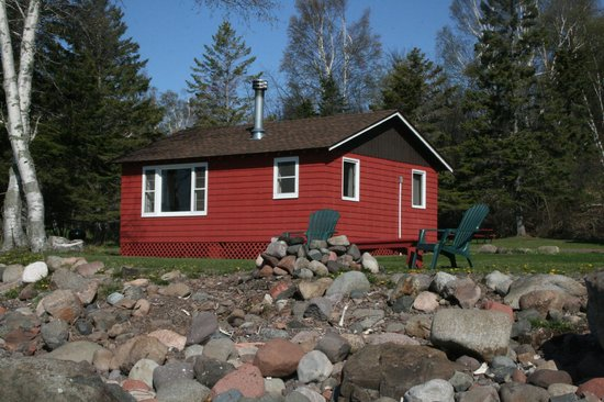 Little Marais Lakeside Cabins: Two bedroom cabin, all have a firepit of their own