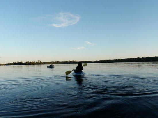 White Eagle Resort on Lake Vermilion: Kayaking away from resort