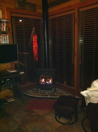 Big Rock Cabins: A modern, rustic style fire...