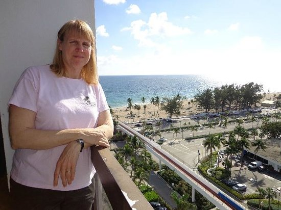 Bahia Mar Fort Lauderdale Beach - a Doubletree by Hilton Hotel: wife on our balcony