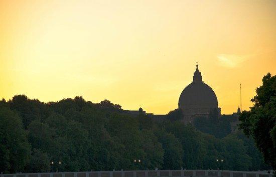 A Trastevere da M.E. : Panorama dalla terrazza dell'edificio