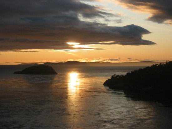 Deception Pass State Park: Sunset from Deception Pass Bridge