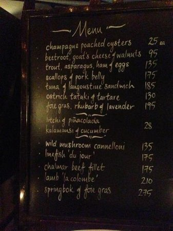 La Colombe: Comprehensive menu to tempt any palate