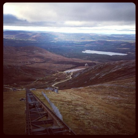 CairnGorm Mountain: View from the tram heading down.