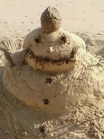 Grand Lucayan, Bahamas: sand snow man