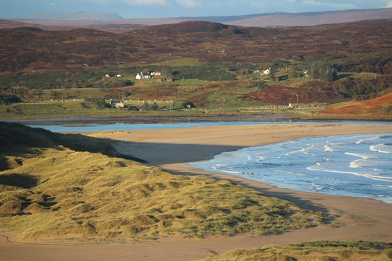 View from Bettyhill hotel rooms