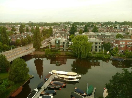 Hilton Amsterdam: View of the canal from our room