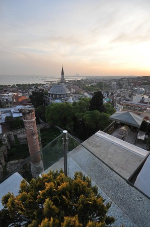 View from terrace, Daphne Hotel, Sultanahmet, Istanbul, May 2012