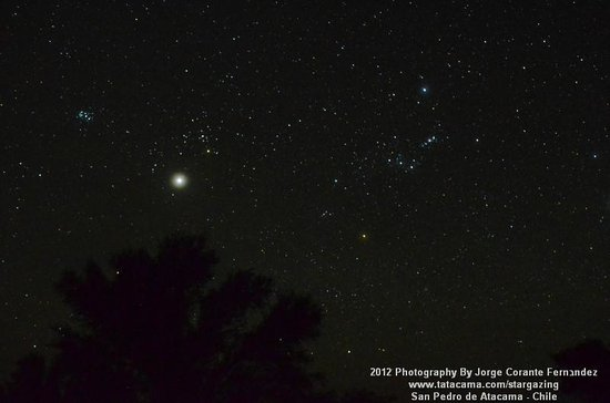 Atacama Desert Stargazing: Jupiter in Taurus and Orion december 2nd 2012