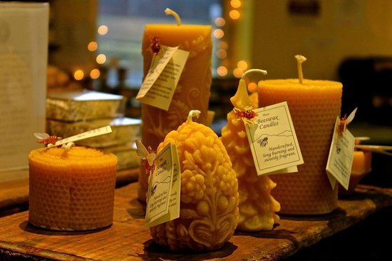 The Cheese Board: Beeswax candles